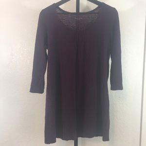 Eileen Fisher-Purple Blouse-3/4 Sleeves-Medium